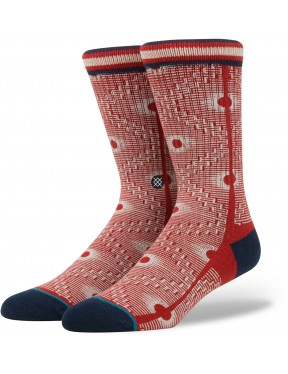 Stance Back Alley Socks in Red