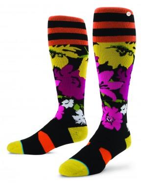 Stance Fleur Snow Socks in Coral