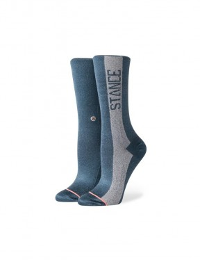Stance Judge Me Crew Socks in Teal