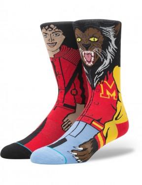 Stance Michael Jackson Crew Socks in Red