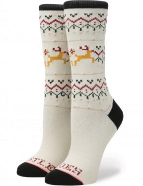 Stance Mistle Toes Crew Socks in Cream