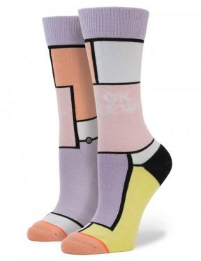Stance Ok Kewl Socks in Lilac Ice