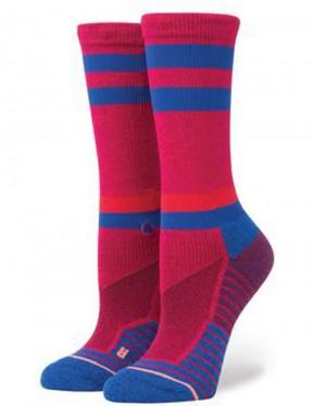 Stance Superset Crew Socks in Magenta
