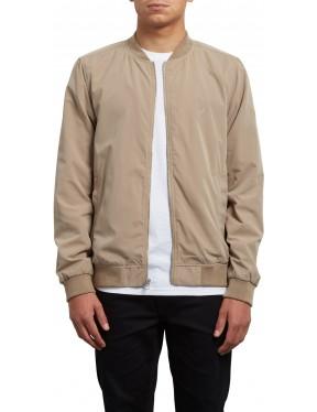 Volcom Burnward Jacket in Sand Brown