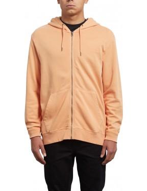 Volcom Case Zipped Hoody in Summer Orange