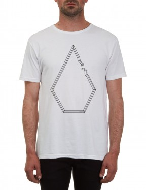 d6fab207 Volcom Chopped Edge Short Sleeve T-Shirt in White | hardcloud.com