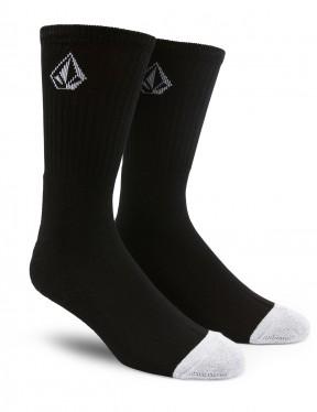 Volcom Full Stone Crew Socks in Black