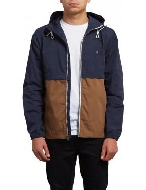 Volcom Howard Hooded Jacket in Navy