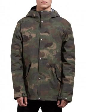 Volcom Lane Tds Parka Jacket in Military