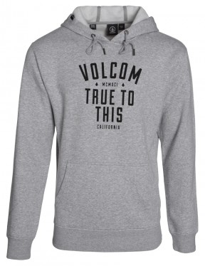 Volcom Liquify Pullover Hoody in Heather Grey