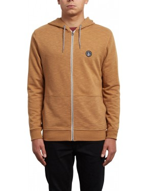 Volcom Litewarp Zipped Hoody in Hazelnut