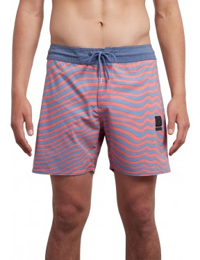 Volcom Mag Vibes Stoney 16 Mid Length Boardshorts in Scream Red