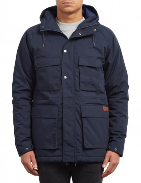 Volcom Renton Winter Jacket in Navy