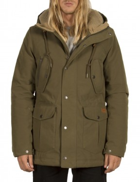 Volcom Starget Parka Jacket in Military