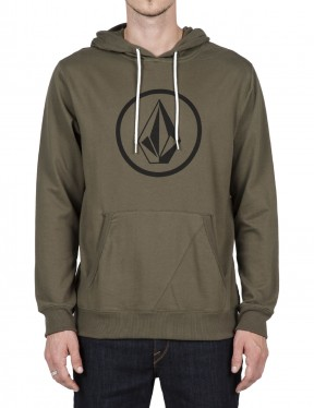 Volcom Stone Pullover Hoody in Military