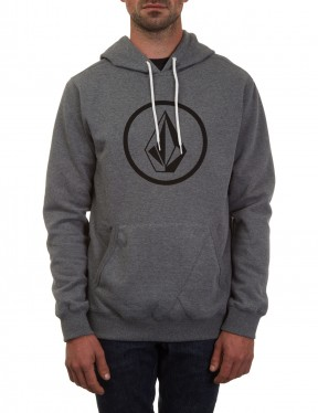 Volcom Stone Pullover Hoody in Dark Grey