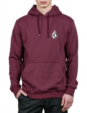 Volcom Supply Stone Pullover Hoody in Dark Port
