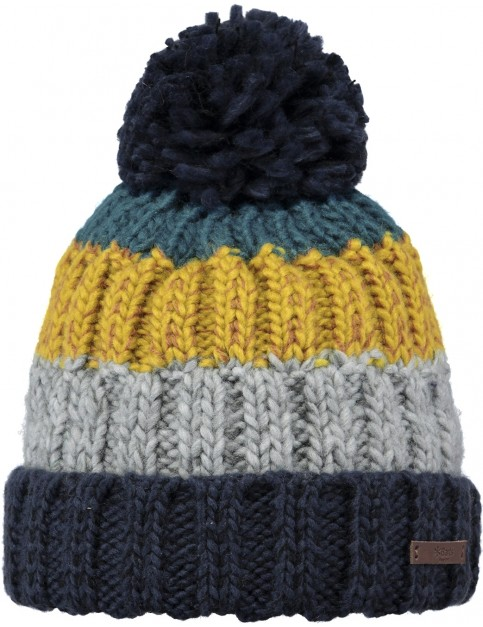Barts Wilhelm Bobble Hat in Denim