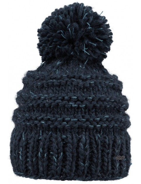 Barts Jasmin Bobble Hat in Navy