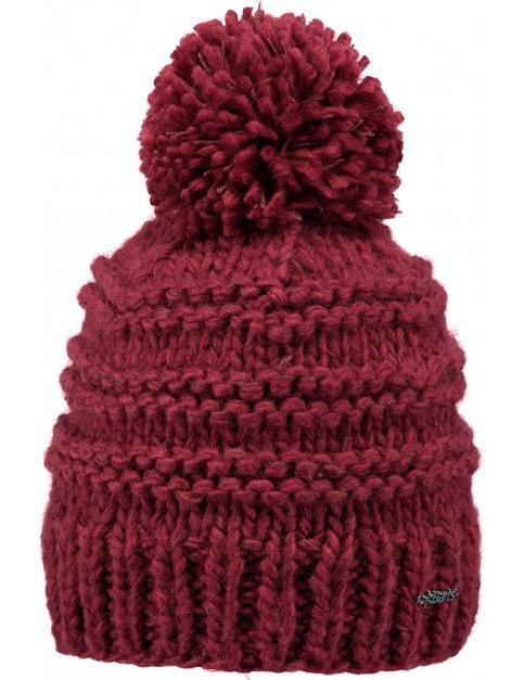 Barts Jasmin Bobble Hat in Red