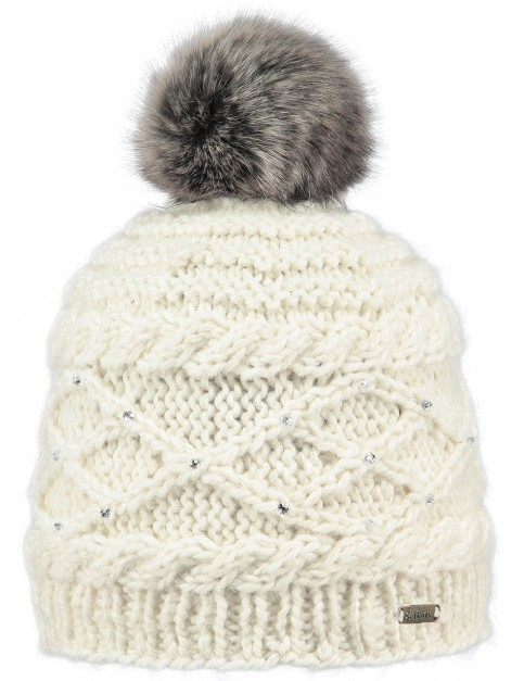 Barts Claire Bobble Hat in Cream