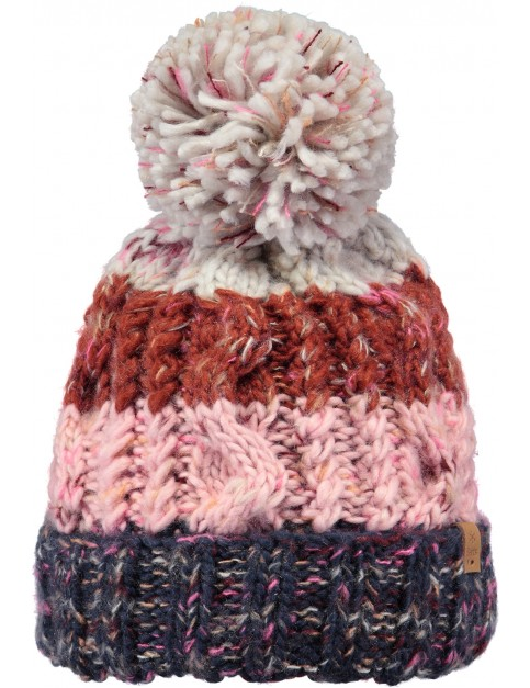 Barts Sandy Bobble Hat in Navy