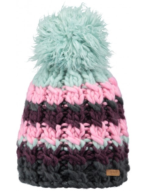 Barts Feather Bobble Hat in Sage