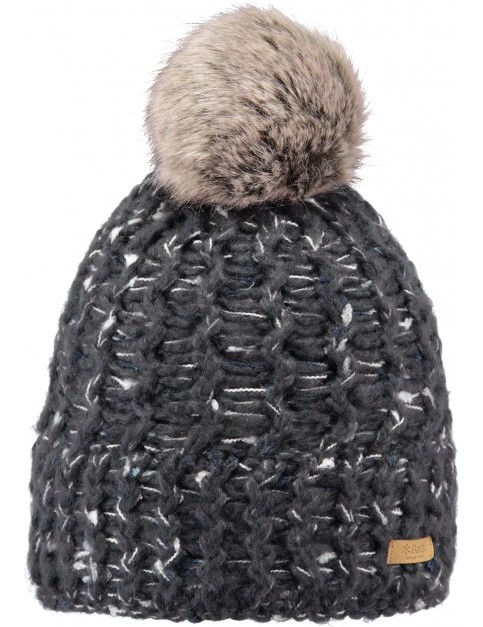 Barts Euny Bobble Hat in Dark Heather