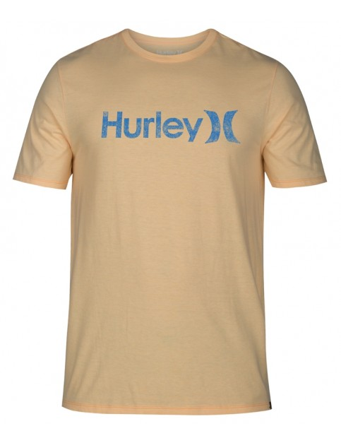 Hurley One & Only Push Through Short Sleeve T-Shirt in Melon Tint Htr
