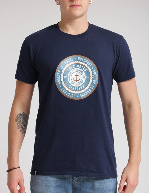 Hold Fast Badge T shirt - Navy