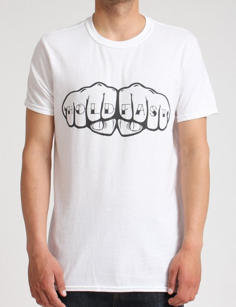 Hold Fast Knuckles T shirt - White
