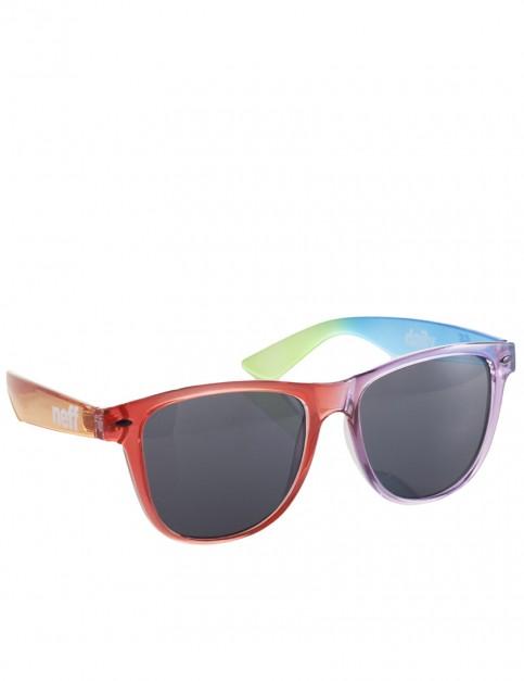 Neff Daily Sunglasses - Clear Rainbow