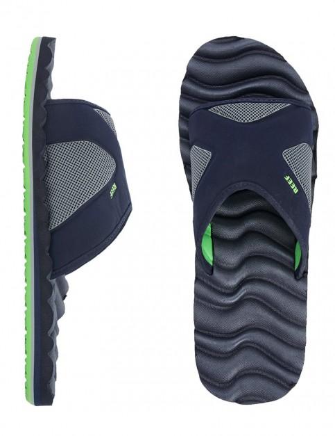 Reef Swellular Slide Sandal - Navy/Green
