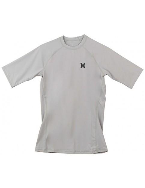 Hurley Pro Light Short Sleeve Rash Vest in Wolf Grey