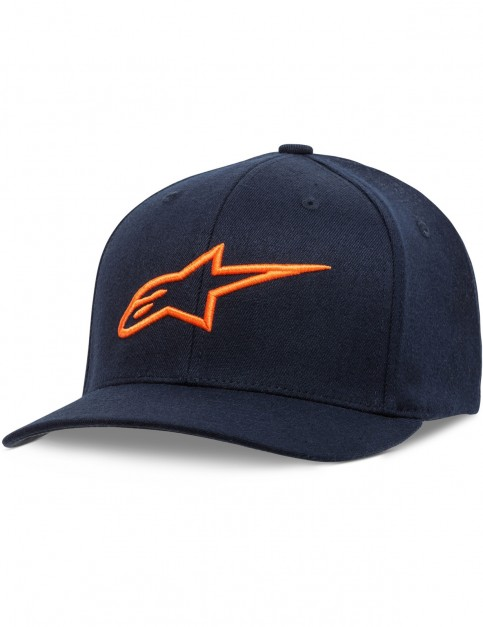 Alpinestars Ageless Curve Cap in Navy/Orange