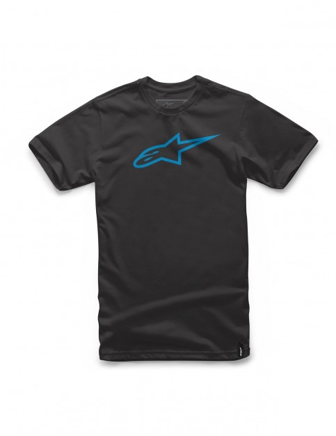 Alpinestars Ageless Short Sleeve T-Shirt in Black/Cyan