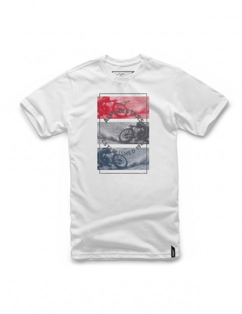 Alpinestars Burnt Short Sleeve T-Shirt in White