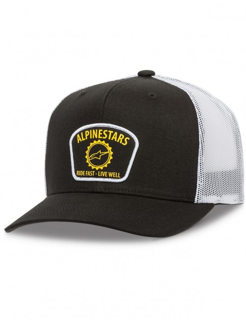Alpinestars Garage Trucker Cap in Black/White