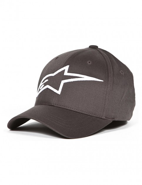Charcoal/White Alpinestars Logo Astar Curved Flexfit Cap