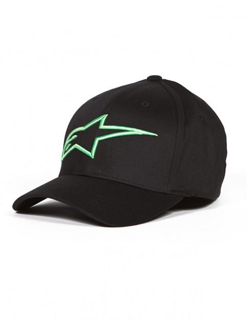 Alpinestars Logoastar Cap in Black/Monster Green