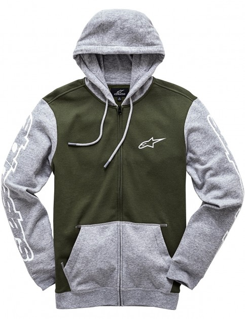 Alpinestars Machine Zipped Hoody in Military