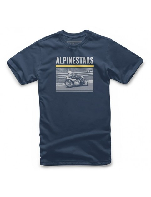 Alpinestars Recorded Short Sleeve T-Shirt in Navy