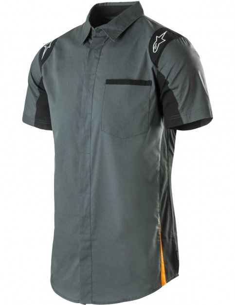 Alpinestars Sao Paolo Short Sleeve Shirt in Charcoal