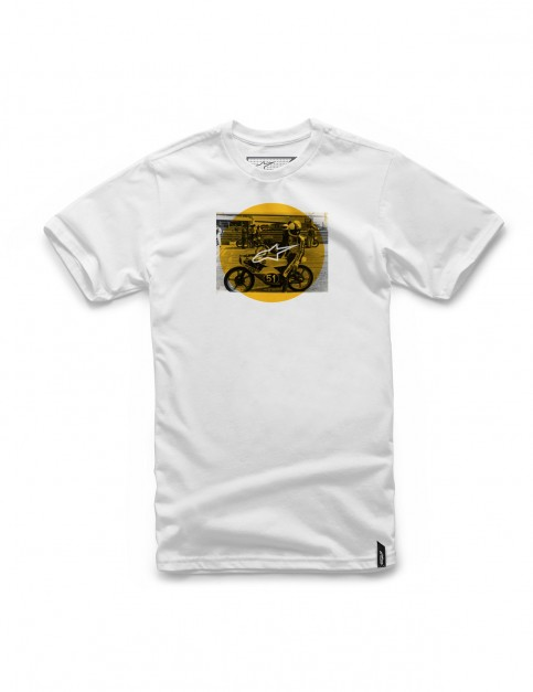 Alpinestars Task Short Sleeve T-Shirt in White