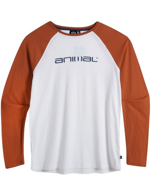Animal Action Long Sleeve T-Shirt in Fireside Orange