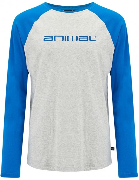 Animal Action Long Sleeve T-Shirt in Snorkel Blue