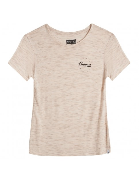 Animal Advance Short Sleeve T-Shirt in Vanilla Cream Marl