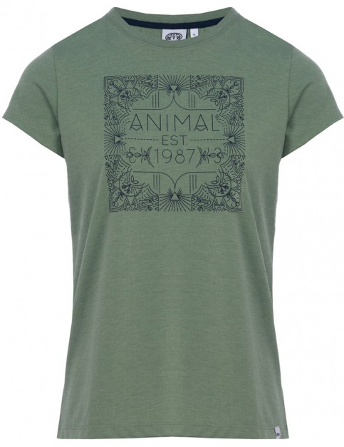 Animal Akutan Short Sleeve T-Shirt in Dusty Leaf Green Marl