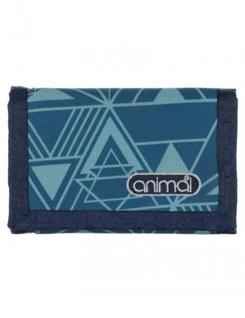 Animal Ally Polyester Wallet in Teal Blue