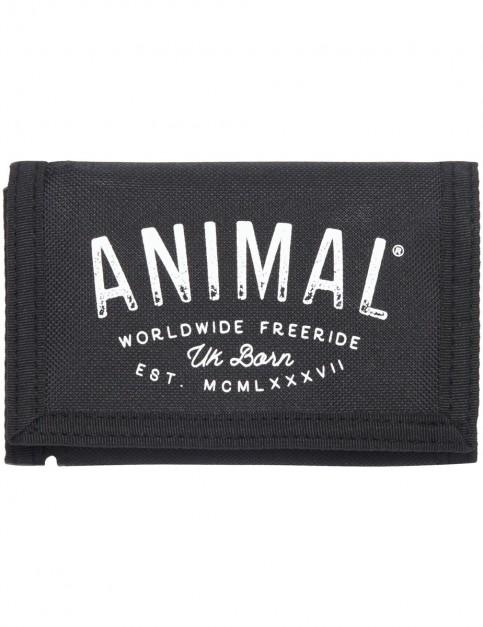 Animal Ambush Polyester Wallet in Black